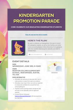Kindergarten Promotion Parade