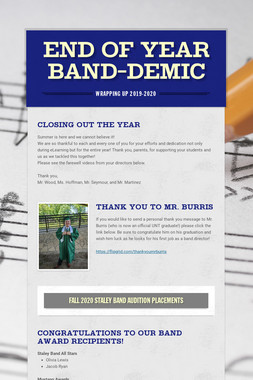 End of Year Band-Demic