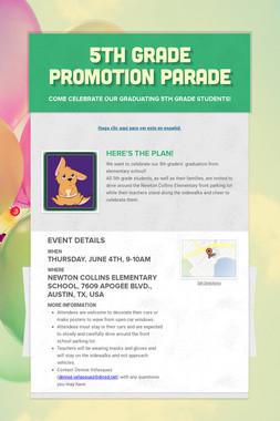 5th Grade Promotion Parade