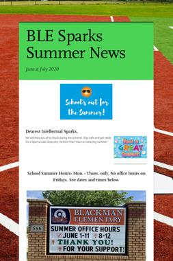 BLE Sparks Summer News