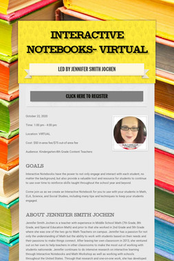 Interactive Notebooks- VIRTUAL