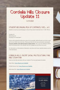 Cordelia Hills Closure Update 11