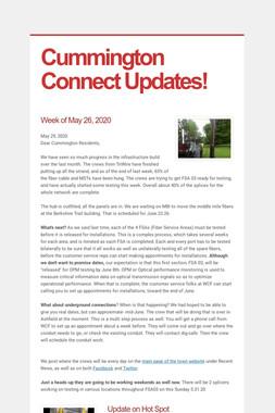 Cummington Connect Updates!