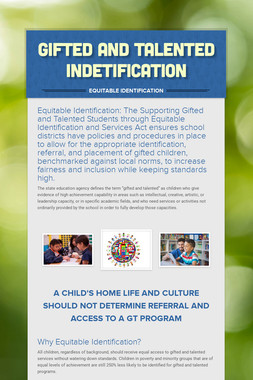 Gifted and Talented Indetification