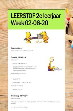 LEERSTOF 2e leerjaar Week 02-06-20
