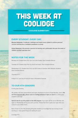 This Week At Coolidge