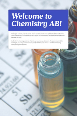 Welcome to Chemistry AB!