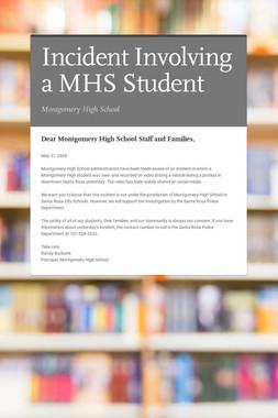 Incident Involving a MHS Student