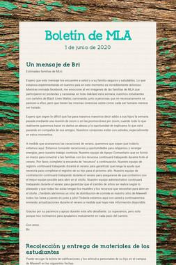 Boletín de MLA