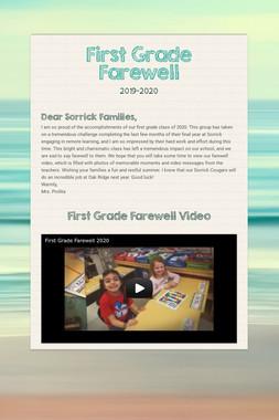 First Grade Farewell