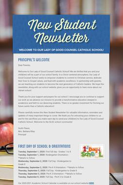 New Student Newsletter
