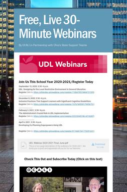 Free, Live 30-Minute Webinars