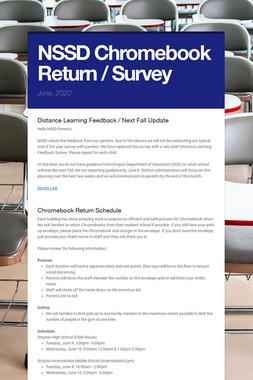 NSSD Chromebook Return / Survey