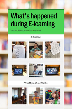What's happened during E-learning