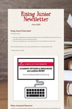 Rising Junior Newsletter
