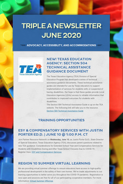 Triple A Newsletter June 2020