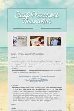 Staff Preschool Newsletter