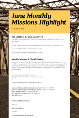 June Monthly Missions Highlight