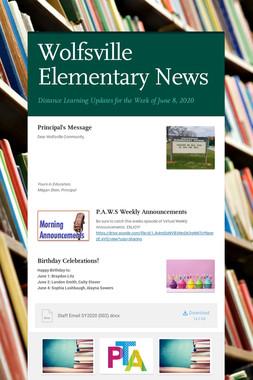 Wolfsville Elementary News