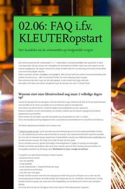 02.06: FAQ i.f.v. KLEUTERopstart