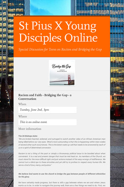 St Pius X Young Disciples Online