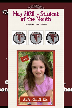May 2020 ~ Student of the Month