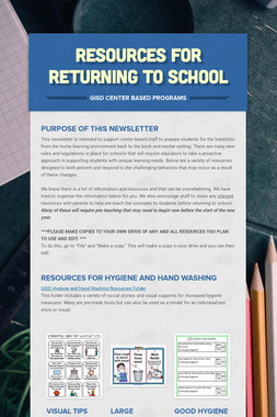 Resources for Returning to School