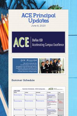 ACE Principal Updates