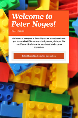 Welcome to Peter Noyes!