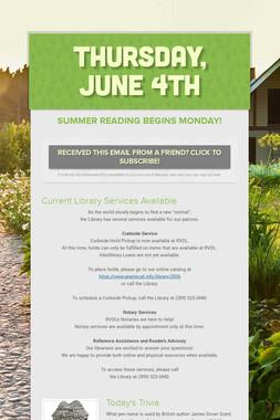 Thursday, June 4th