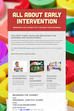 ALL ABOUT EARLY INTERVENTION