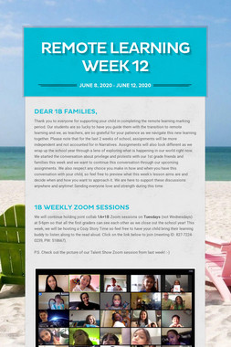 Remote Learning Week 12