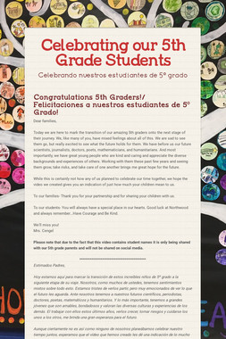 Celebrating our 5th Grade Students