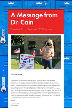 A Message from Dr. Cain