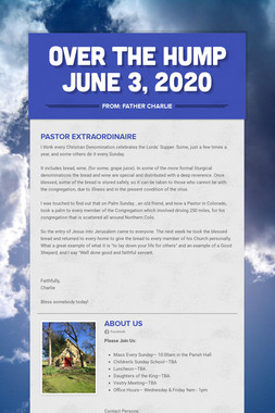Over the Hump  June 3, 2020