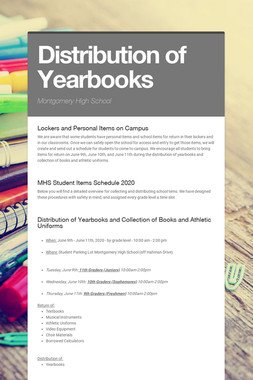 Distribution of Yearbooks