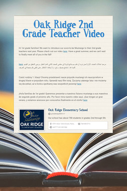 Oak Ridge 2nd Grade Teacher Video