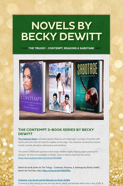 Novels by Becky DeWitt