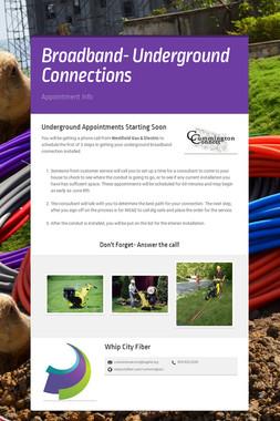Broadband- Underground Connections