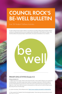 COUNCIL ROCK'S BE-WELL BULLETIN