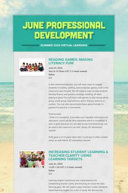 June Professional Development