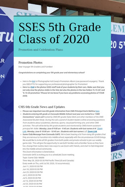 SSES 5th Grade Class of 2020