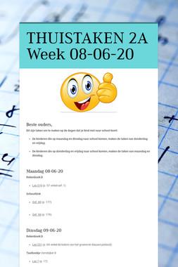 THUISTAKEN 2A Week 08-06-20