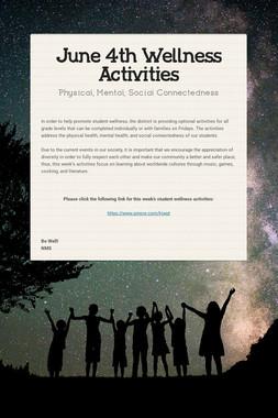 June 4th Wellness Activities