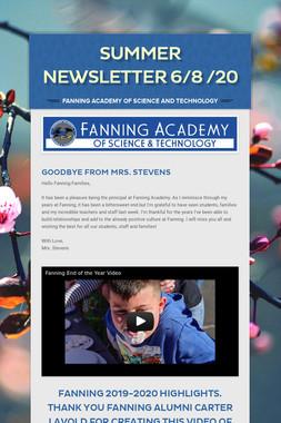 Summer Newsletter 6/8 /20