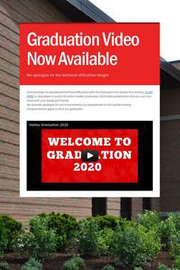Graduation Video Now Available
