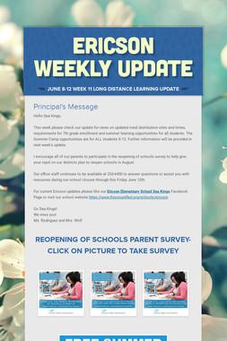 Ericson Weekly Update