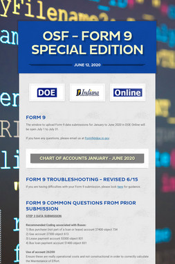 OSF - Form 9 Special Edition