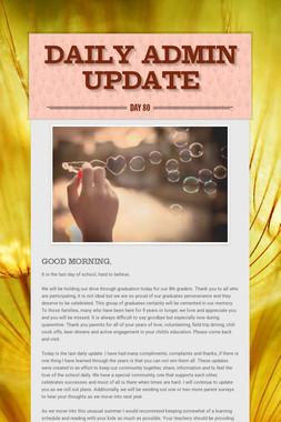 Daily Admin Update