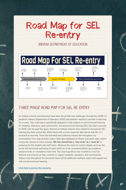 Road Map for SEL Re-entry